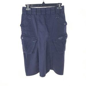 Moschino Jeans Navy Blue Cargo Pencil Skirt